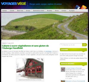Cabane sucre Voyager Vege