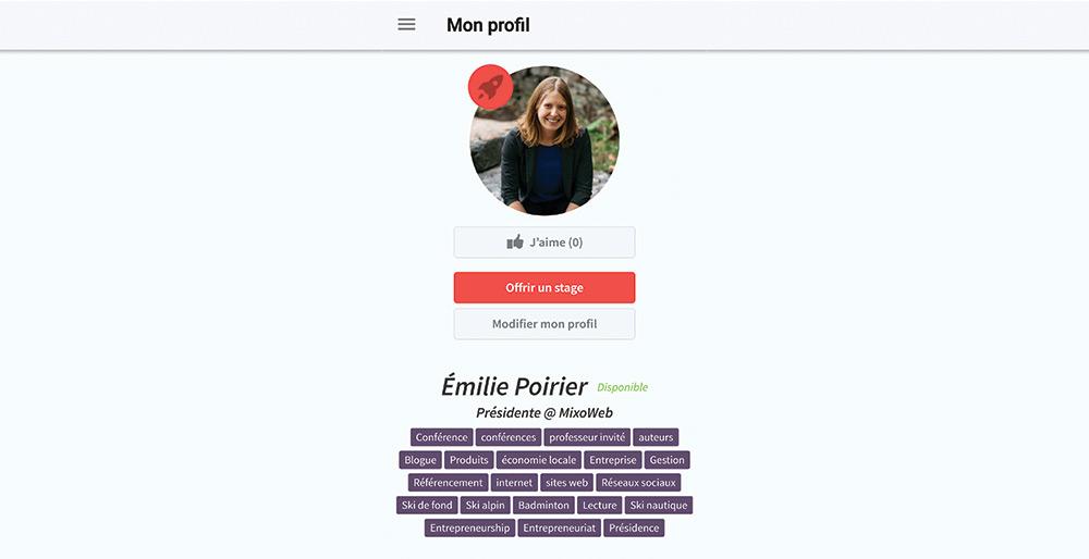 Émilie mentor pour les jeunes avec Academos!
